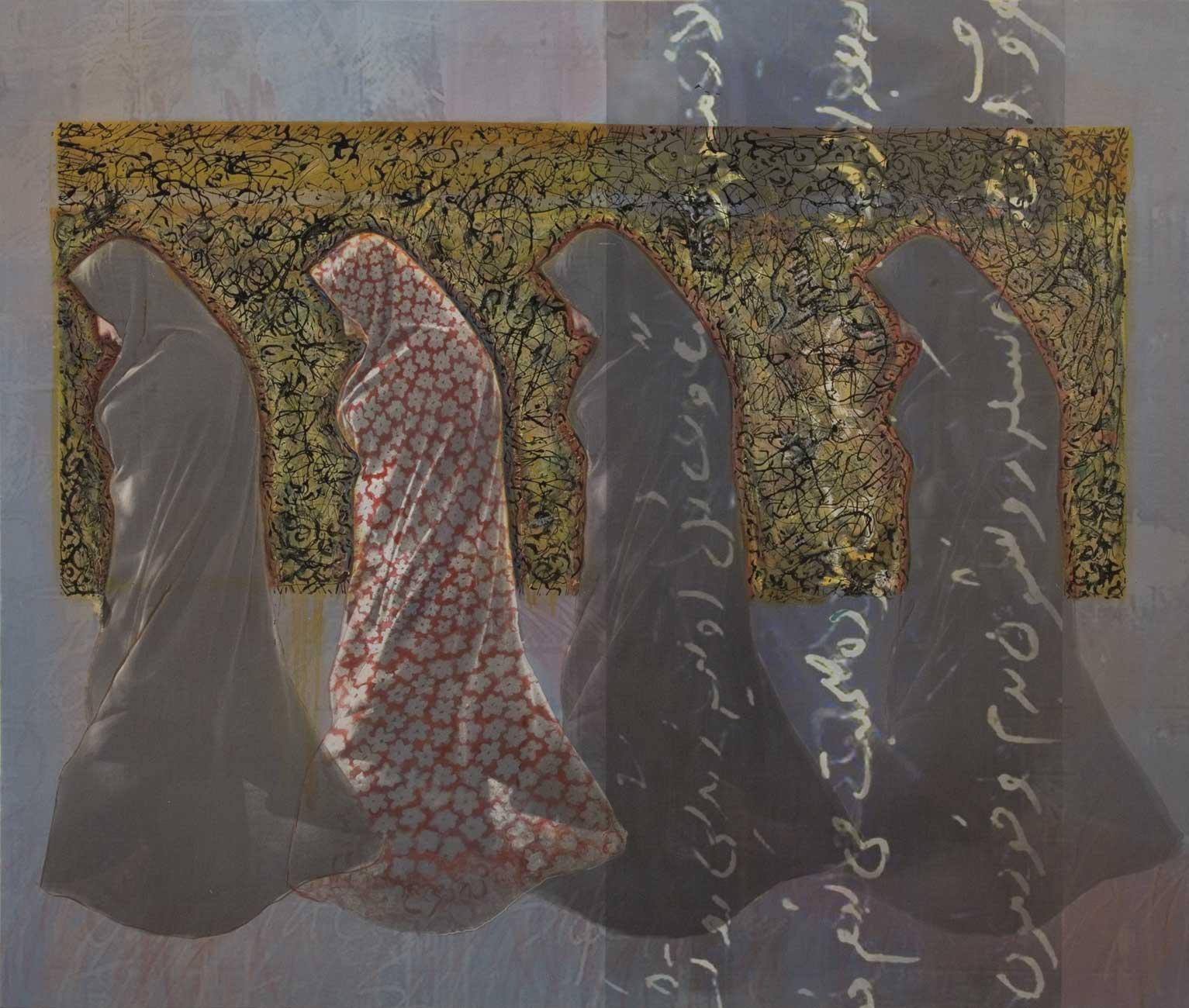 KOUS-0011-Koroush-Salehi_Walk-in-the-Right-Side_Mixed-media-on-canvas_110x130-cm_2011